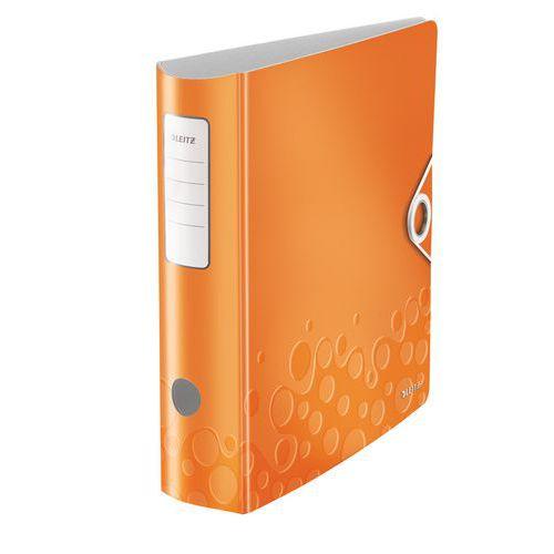 Pákový pořadač Leitz 500, oranžový