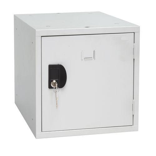 Svařovaný šatní box Manutan Frank, šedý/šedý