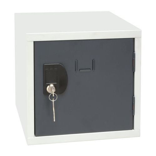Svařovaný šatní box Manutan Frank, šedý/antracit