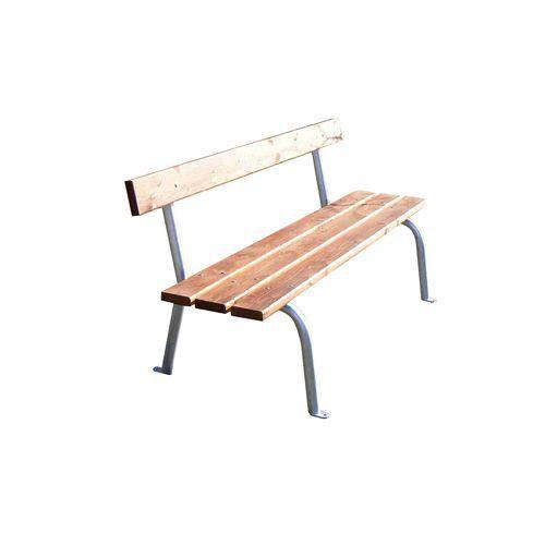 Parková lavička Crocus s opěradlem