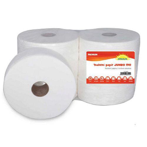 Toaletní papír Jumbo 2vrstvý, 19 cm, 125 m, 100% celulóza, 6 rol