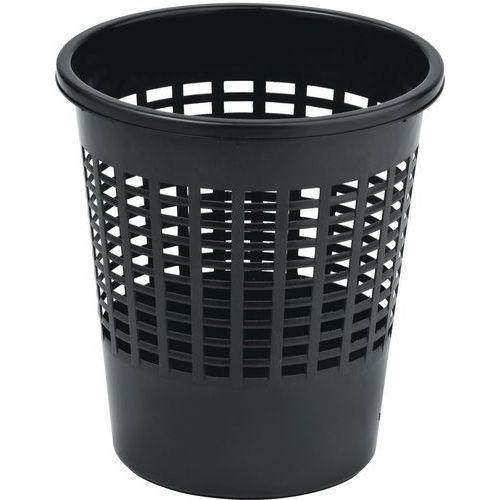 Plastový odpadkový koš Office, objem 10 l, černý
