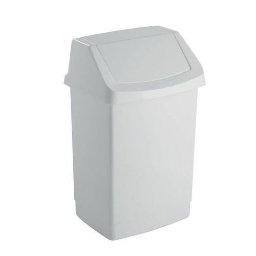 Plastový odpadkový koš Simple, objem 15 l, bílý