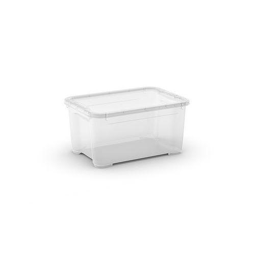 Plastový úložný box s víkem, průhledný, 13,5 l