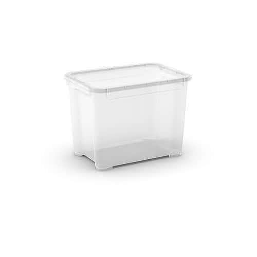 Plastový úložný box s víkem, průhledný, 20 l