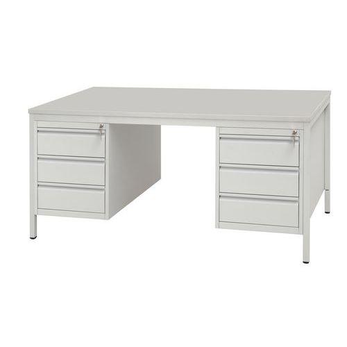 Kancelářský stůl se dvěma kontejnery Basic, 160 x 80 x 76 cm, rovné provedení