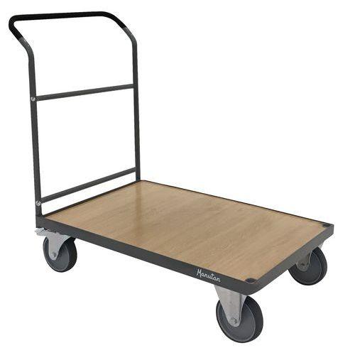 Plošinový vozík Manutan s madlem, do 500 kg, 108,3 x 61,3 cm