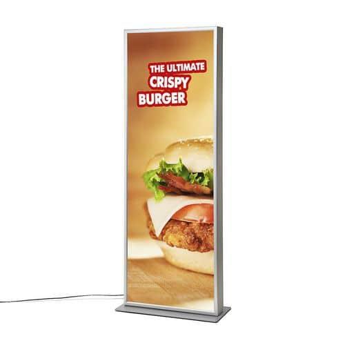 Reklamní totem Cliprame s LED podsvícením, 200 x 70 cm