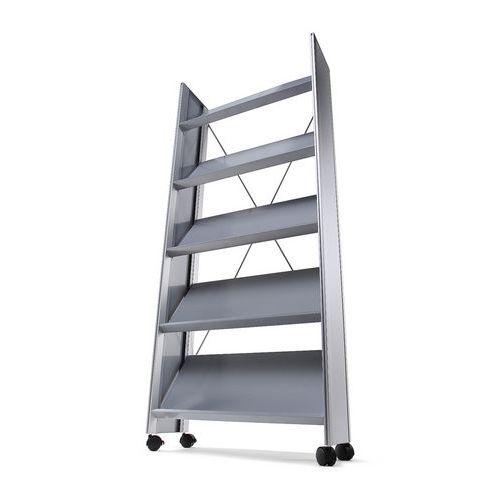 Jansen Display Prezentační stojan Viliam, 20 x A4, stříbrný