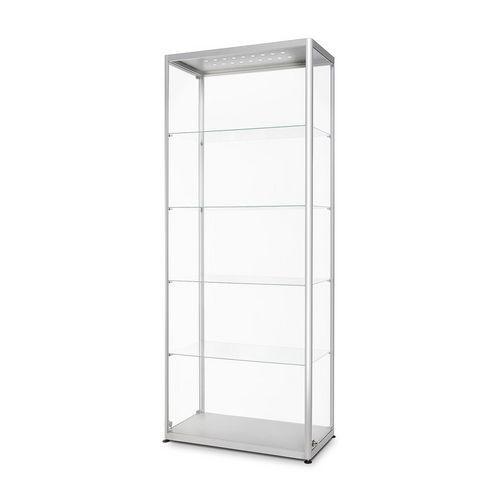 Skleněná produktová vitrína Dekor s osvětlením, 80 x 40 x 200 cm