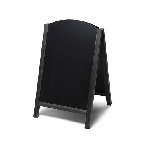 Reklamní křídová vysouvací tabule A, černá, 55 x 85 cm