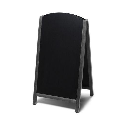 Reklamní křídová vysouvací tabule A, černá, 68 x 120 cm