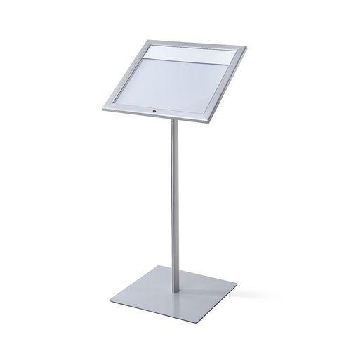 Informační stojan s vitrínou Menuboard, LED osvětlení, 2x A4