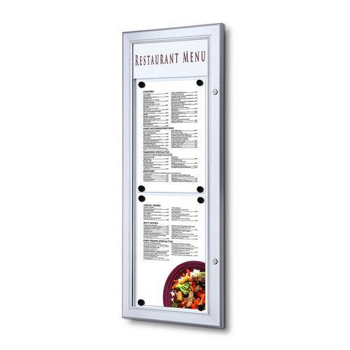 Jansen Display Magnetická vitrína Menu, jednokřídlá, 2 x A4 na výšku
