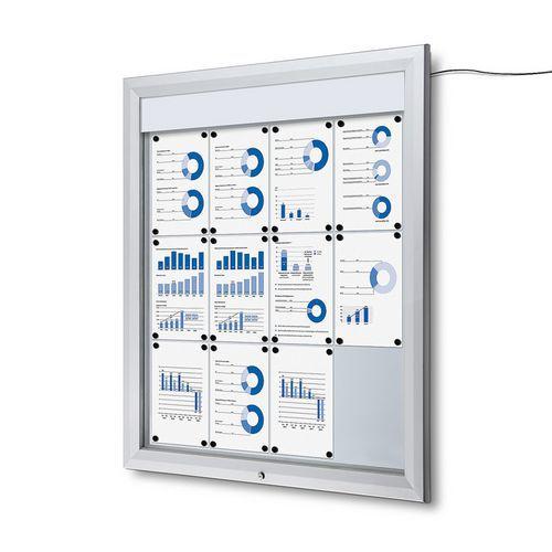 Jansen Display Venkovní vitrína typu T 12 x A4, LED osvětlení