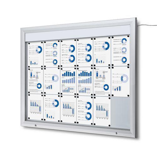 Jansen Display Venkovní vitrína typu T 18 x A4, LED osvětlení