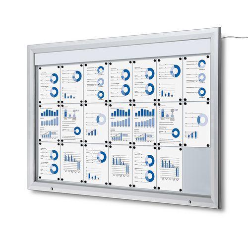 Jansen Display Venkovní vitrína typu T 21 x A4, LED osvětlení