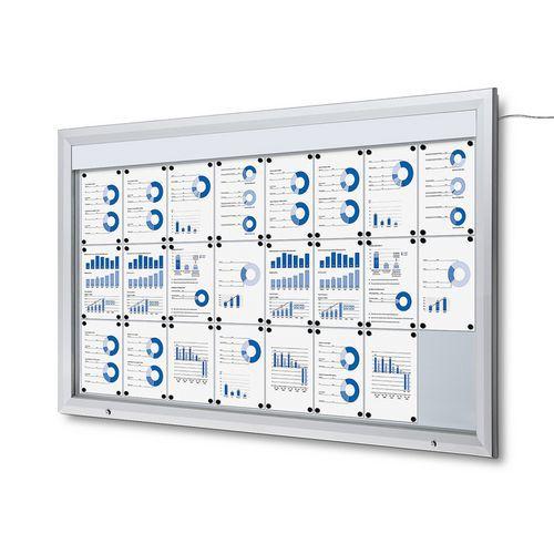 Jansen Display Venkovní vitrína typu T 24 x A4, LED osvětlení