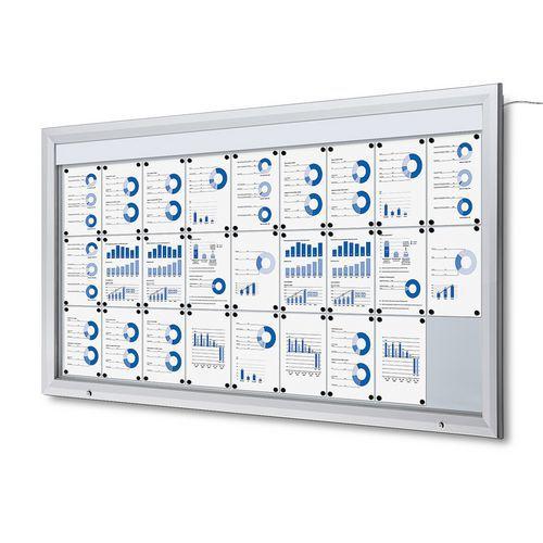 Jansen Display Venkovní vitrína typu T 27 x A4, LED osvětlení