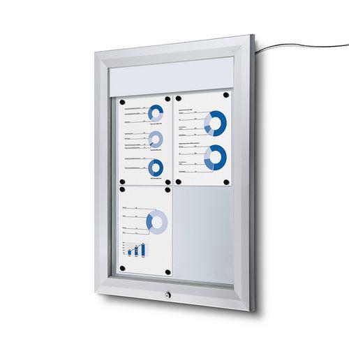 Jansen Display Venkovní vitrína typu T 4 x A4, LED osvětlení