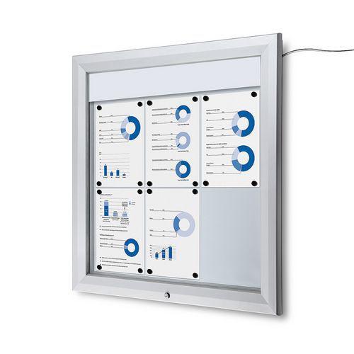 Jansen Display Venkovní vitrína typu T 6 x A4, LED osvětlení