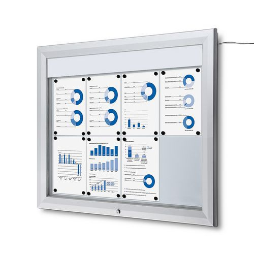 Jansen Display Venkovní vitrína typu T 8 x A4, LED osvětlení