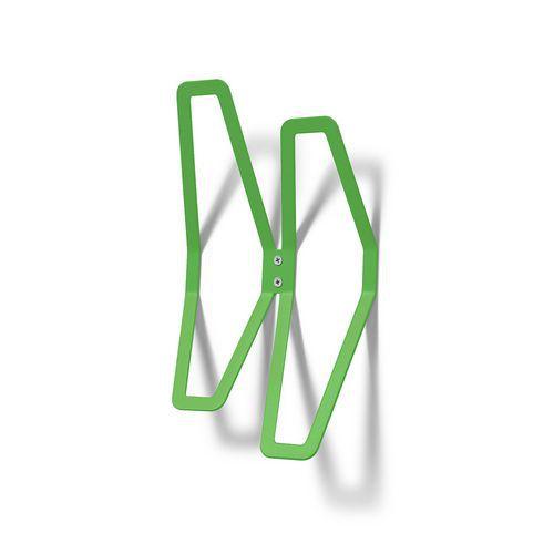 Nástěnný věšák Poets, 2 háčky, zelený