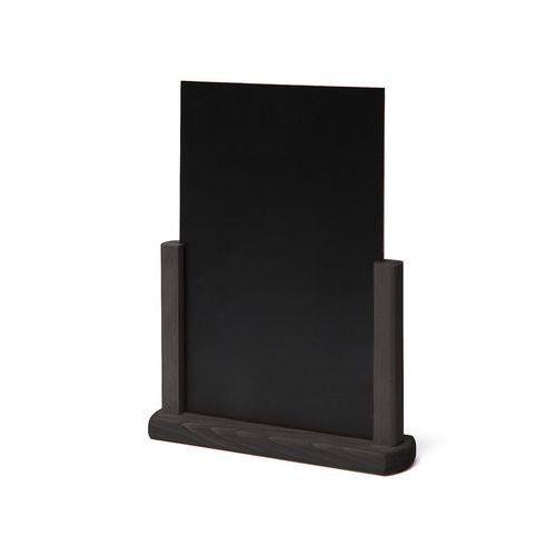 Křídový stojánek na menu, černý, A4