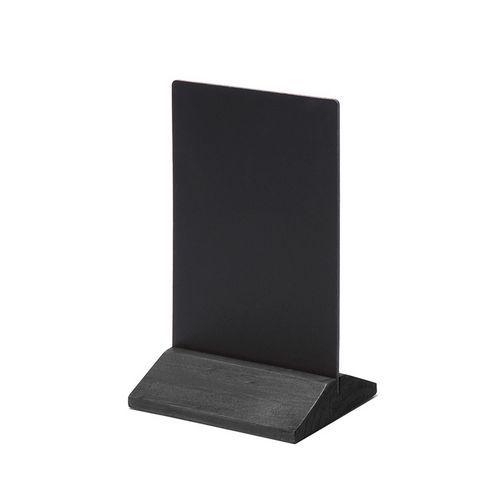 Křídový stojánek na menu, černý, 10 x 15 cm