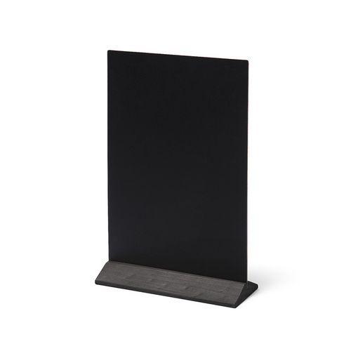 Křídový stojánek na menu, černý, 21 x 30 cm