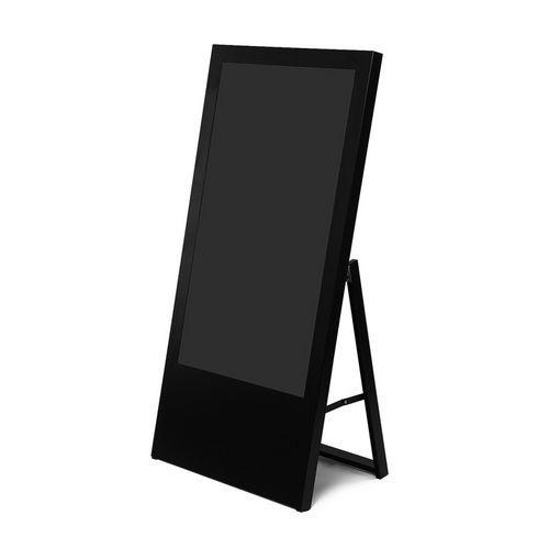 Jansen Display Áčkový digitální stojan Dilma, bez monitoru, 43 palců, černý