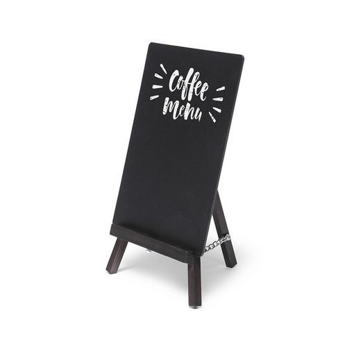 Křídový stojánek na menu JD NATURA, 12 x 20,4 cm, černý