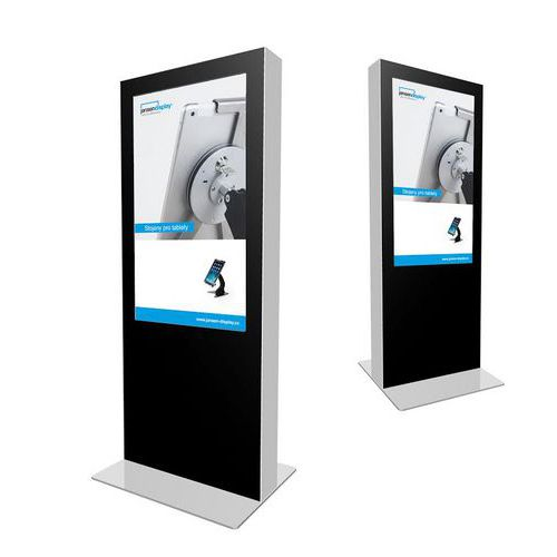 Jansen Display Oboustranný digitální reklamní totem, bez monitoru, 55 palců