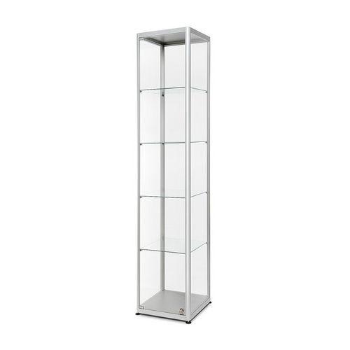 Skleněná produktová vitrína Dekor, 40 x 40 x 200 cm