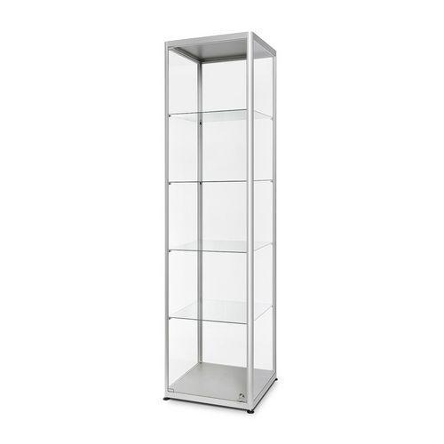 Skleněná produktová vitrína Dekor, 50 x 50 x 200 cm
