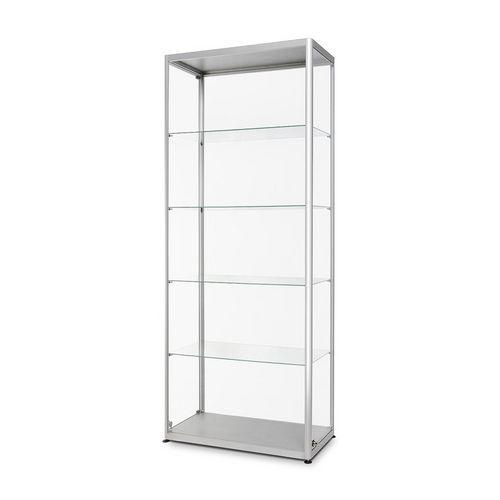 Skleněná produktová vitrína Dekor, 80 x 40 x 200 cm