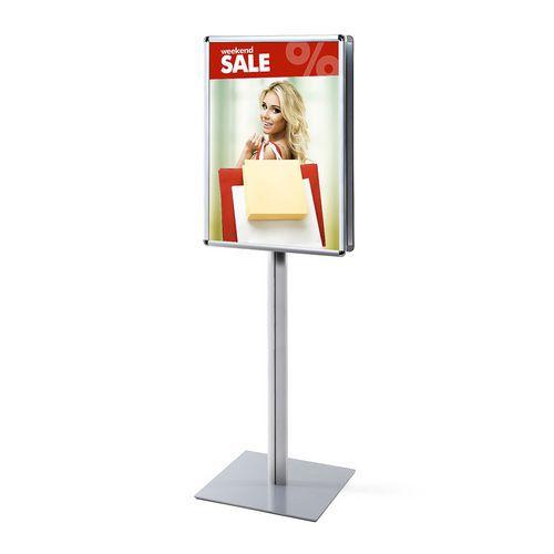 Oboustranný reklamní stojan Infopole, profil 25 mm, oblé rohy, A