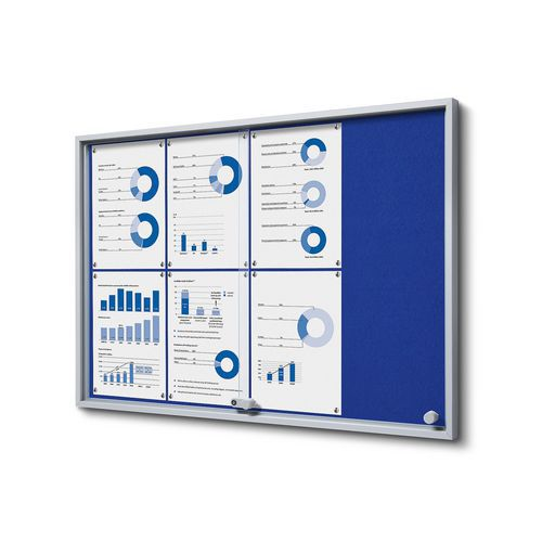 Textilní vitrína Slim Blue, 8 x A4