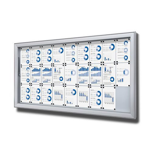 Magnetická vitrína SCL, jednokřídlá, 27 x A4