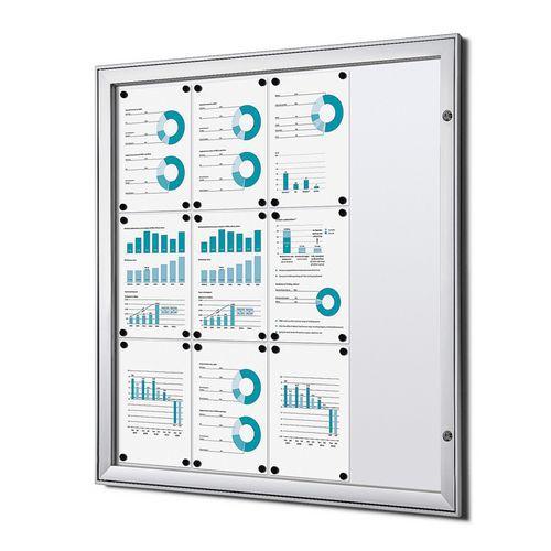 Jansen Display Magnetická vitrína Economy, 12 x A4