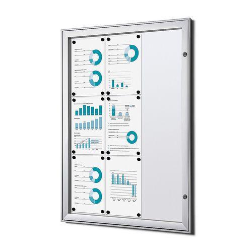 Jansen Display Magnetická vitrína Economy, 9 x A4