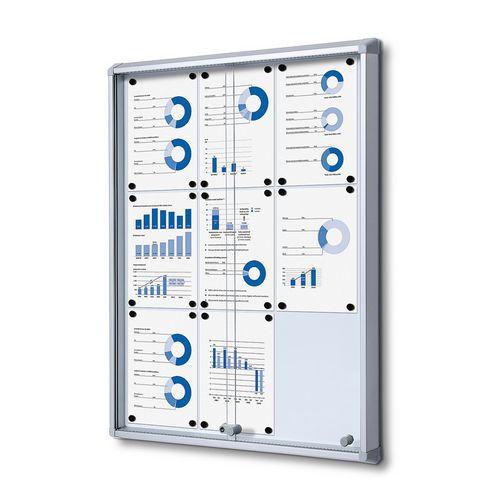 Jansen Display Magnetická vitrína Dave, 9 x A4