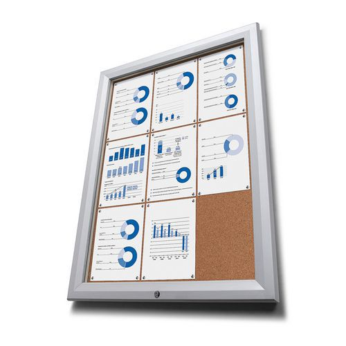 Jansen Display Korková vitrína SCTF, jednokřídlá, 12 x A4