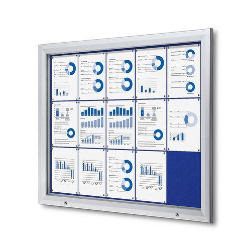 A-Z Reklama CZ SCT PREMIUM - venkovní vitrína s Textilní stěnou 15 x A4 Modrá