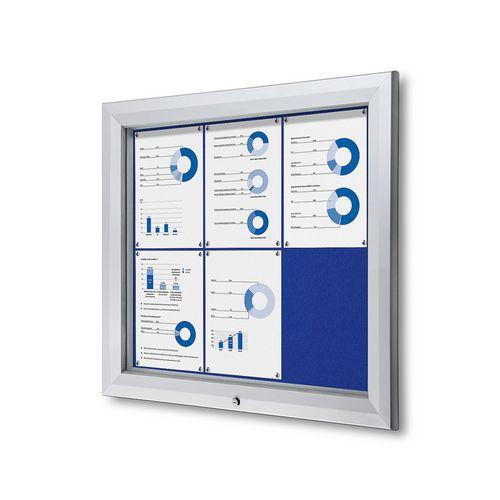Textilní vitrína SCTF Blue, jednokřídlá, 6 x A4