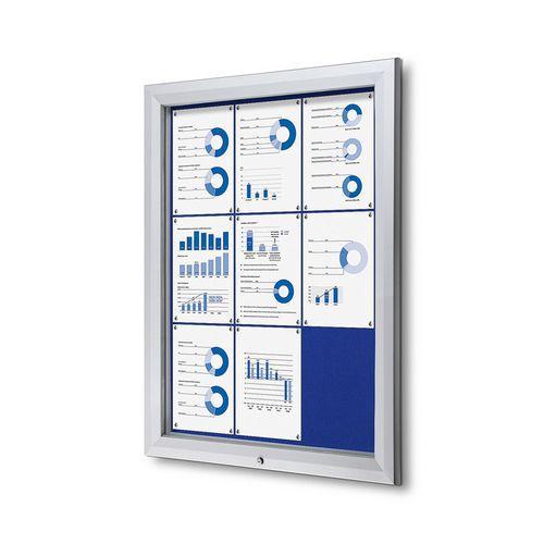 Textilní vitrína SCTF Blue, jednokřídlá, 9 x A4