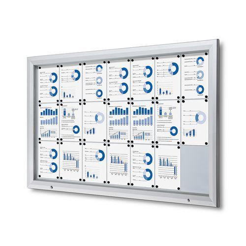 Jansen Display Magnetická vitrína Dom, jednokřídlá, 21 x A4
