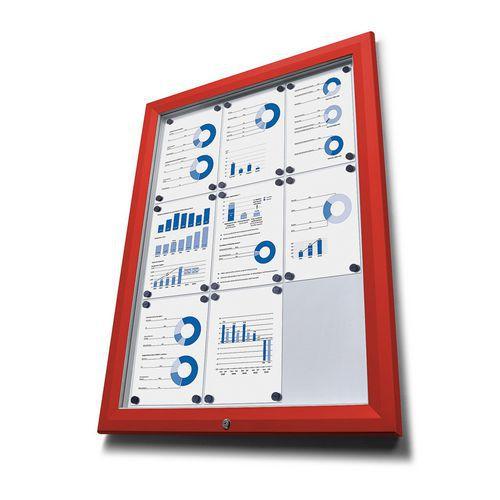 Magnetická vitrína Dom Red, jednokřídlá, 27 x A4