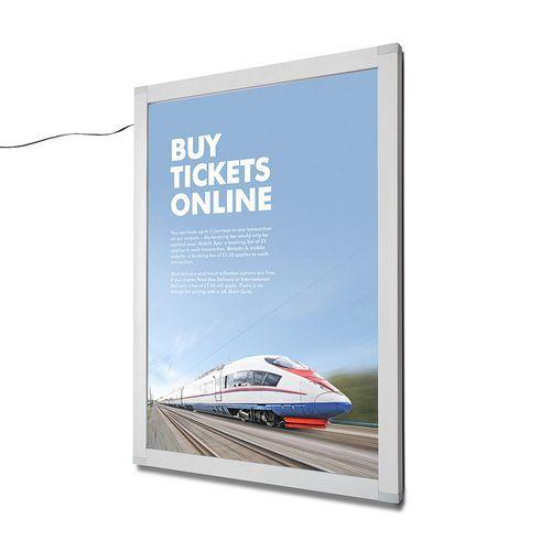 Rám na plakáty Nik s LED osvětlením, 70 x 100 cm - Prodloužená záruka na 10 let