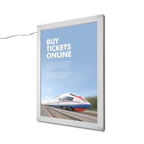 Rám na plakáty Nik s LED osvětlením, A1 - Prodloužená záruka na 10 let